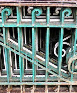 Antiek smeedijzeren balkon hekwerk-2