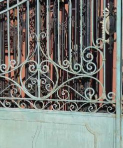 Wrought iron gate-2