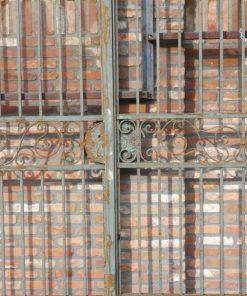 Smeedijzeren poort met zuilen hxb 320x378 cm-2