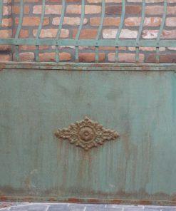Smeedijzeren poort met zuilen hxb 287x293 cm-2