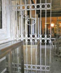 Antique white wrought iron ornamental fence-1