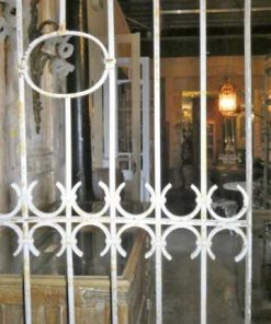 Antique white wrought iron ornamental fence-2