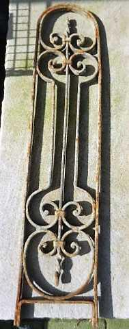 Antieke smeedijzeren balustrade hekjes-2