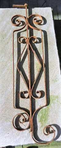 Antieke smeedijzeren balustrade hekjes-5