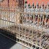 Antiek smeedijzeren hekwerk ca 110 cm hoog-1