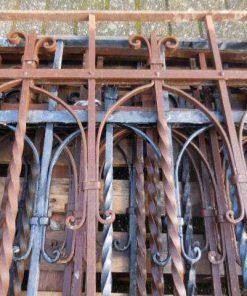 Antieke smeedijzeren hekwerk 97x97 cm-2
