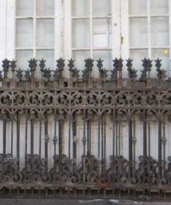 Antique wrought iron fence-1