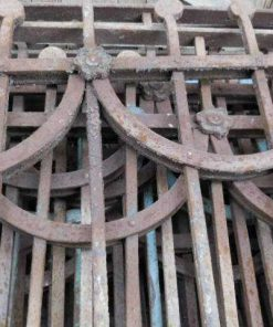 Antieke art deco balkon hekwerk-3