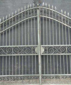 Wrought iron gate columns-1