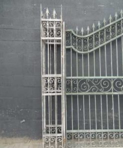 Wrought iron gate columns-2