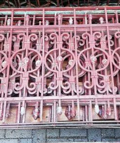 Antique wrought iron balcony fencing-2