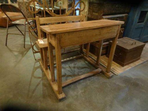 houten schoolbankje-1