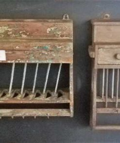 Vintage wooden kitchen racks-1