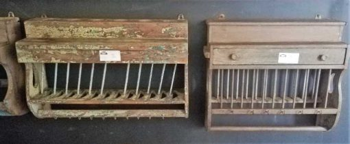Vintage wooden kitchen racks-1