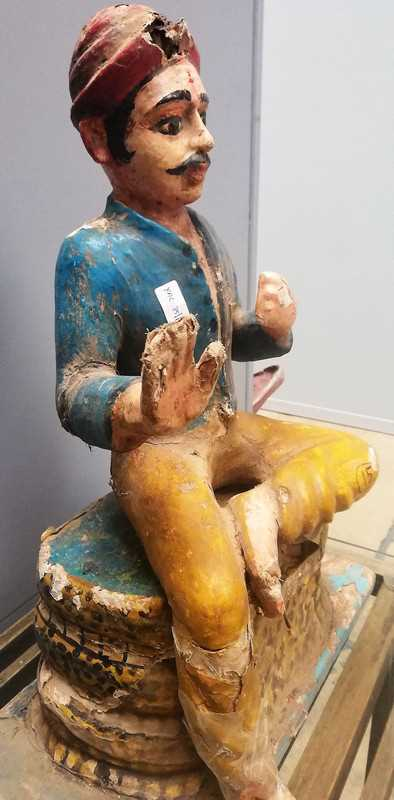 Old Indian statue-3