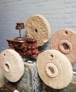 Antieke houten pop van ca 100 cm-1