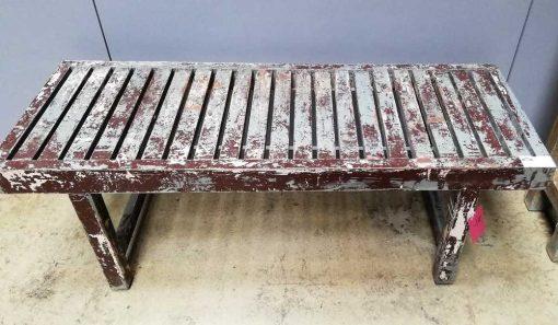 Vintage houten bankje / tafeltje-2