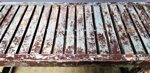 Vintage houten bankje / tafeltje-3