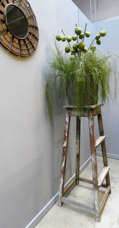 Vintage houten plantentafel-1