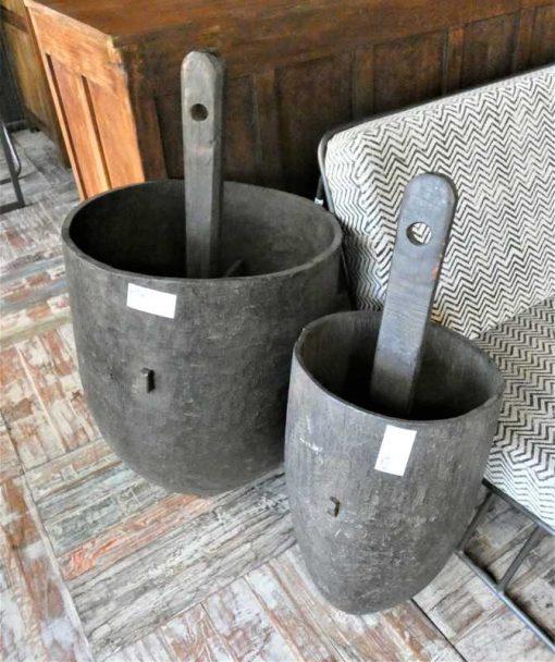 Old wooden jars-1