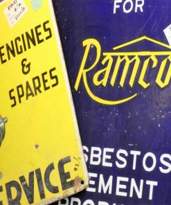 Vintage enamel billboards-2