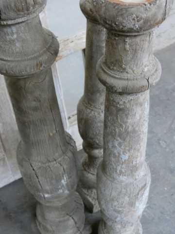 Old wooden candlesticks-5