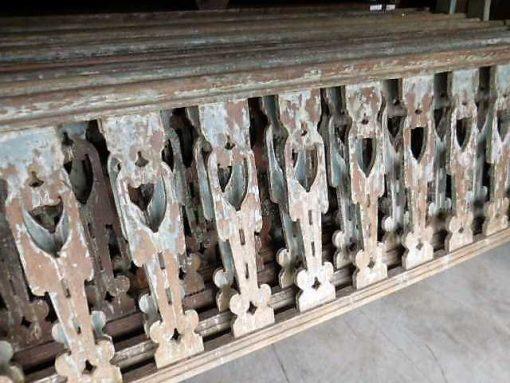 Vintage wooden balustrade-2