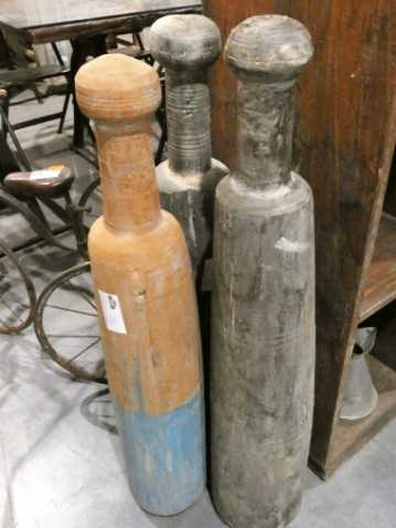 Vintage wooden clubs-3