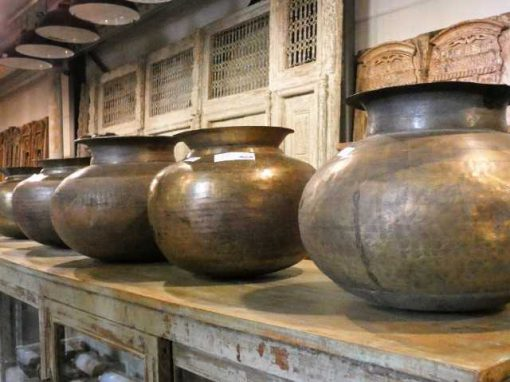 Copper colored water jars / pots / vases-1