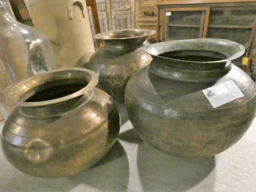 Copper colored water jars / pots / vases-2