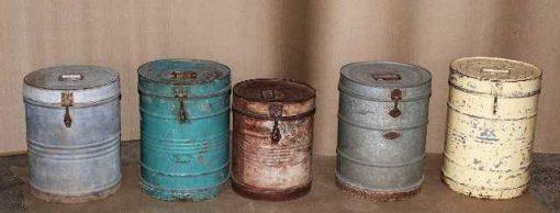 Vintage barrels with lid-3
