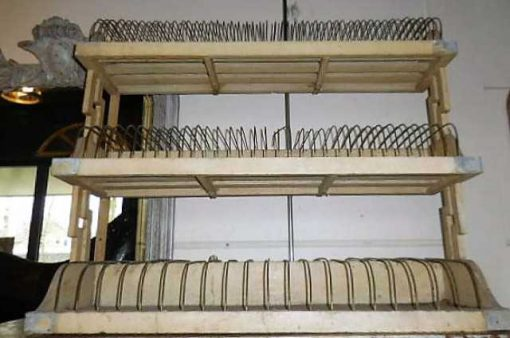 Vintage cream colored plate rack-1