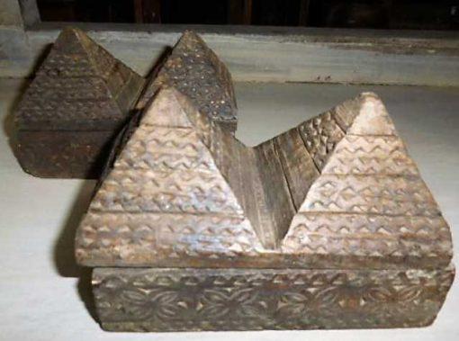 Decoratieve bewerkte houten doosjes-1