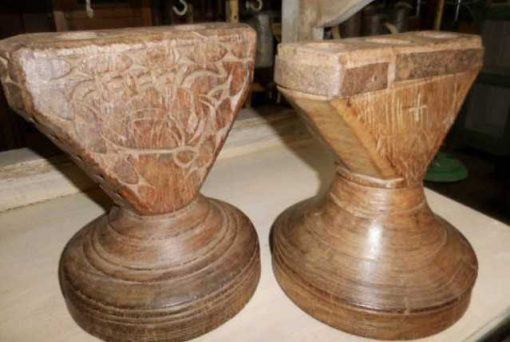 Decorative wooden candlesticks-3