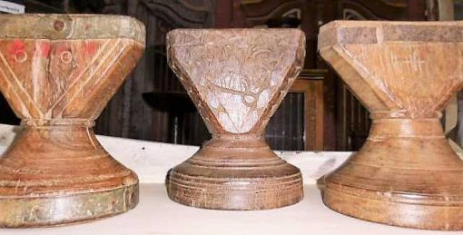 Decorative wooden candlesticks-5