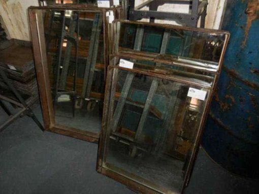 Vintage zinc tray / bread basket with mirror-4