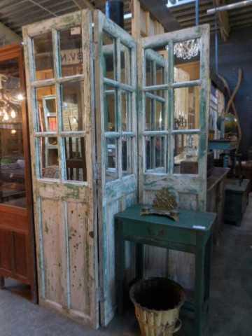 Antique teak room divider-1