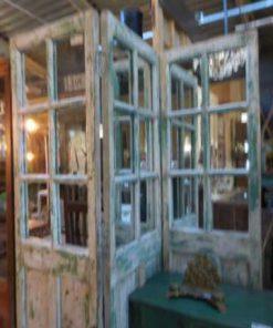 Antique teak room divider-2