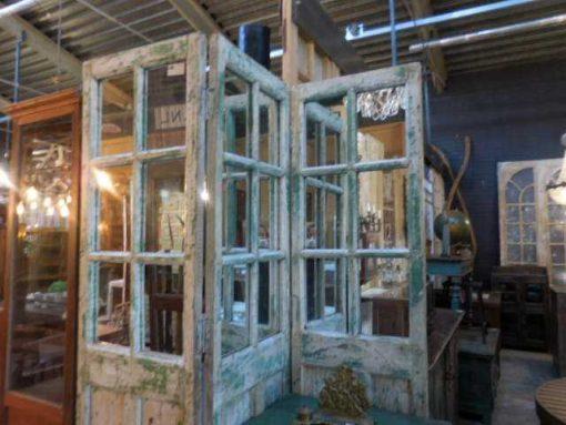 Antique teak room divider-4