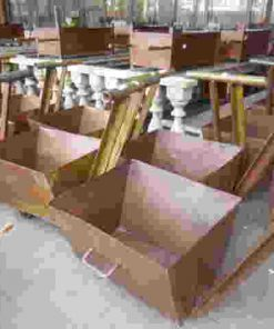 Old decorative iron cart-4