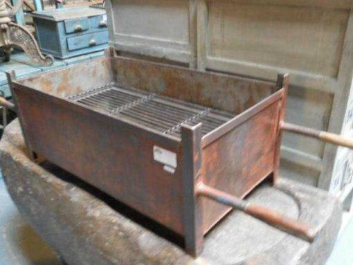 Vintage teak high plants table / stool-1