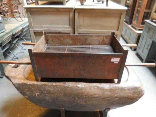 Vintage teak high plants table / stool-3