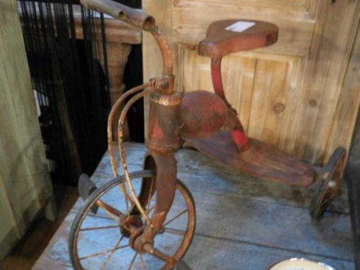 Antique red tricycle / children's bike-2