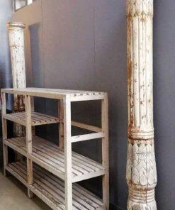 Old white wooden column / pillar / baluster-2