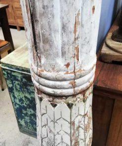 Old white wooden column / pillar / baluster-3