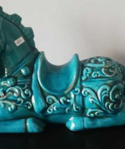Antique Turquoise Statue of a Horse-3