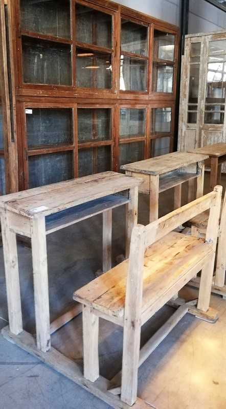 Old Wooden School benches-4