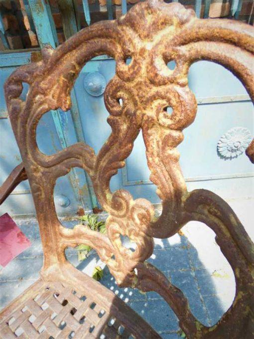 Cast iron chair-3