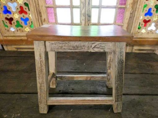 Vintage wooden milking stool-1