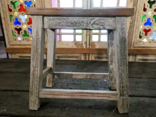 Vintage wooden milking stool-2